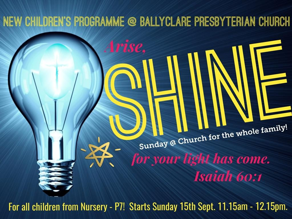 Shine! - Children's Programme {suspended due to COVID-19}